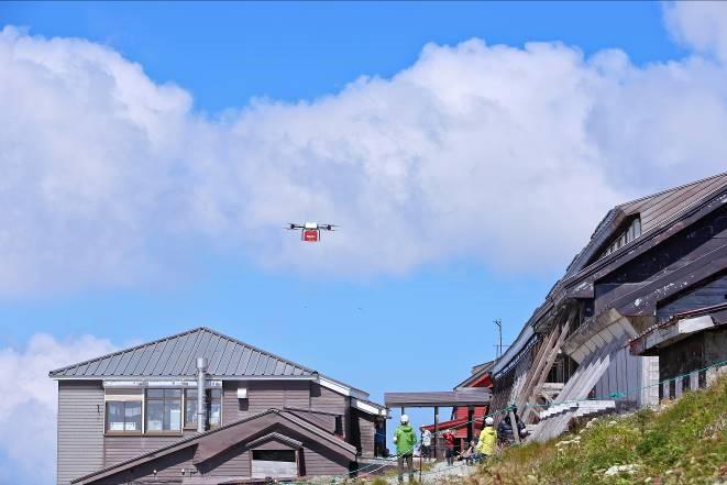 The Hakuba Sanso mountain huts sit atop Mt. Shirouma at an elevation of 2,832m.