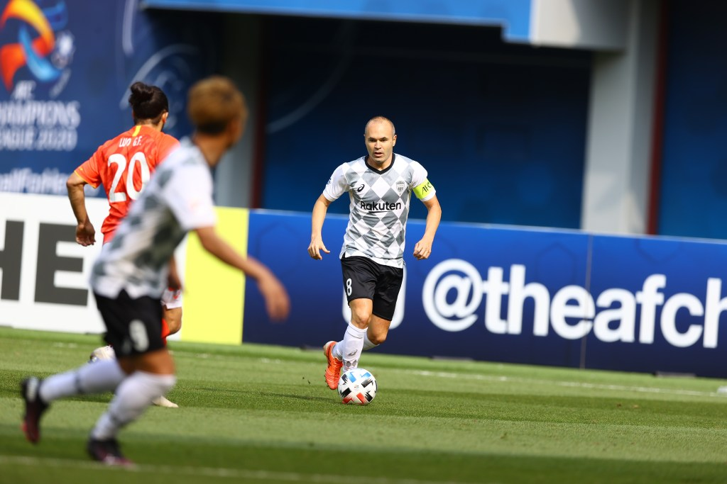 Andrés Iniesta was selected as Man of the Match against Guangzhou Evergrande FC. ©VISSEL KOBE