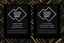 Rakuten Mobile wins two GSMA 2021 GLOMO Awards at MWC Barcelona: Best Mobile Technology Breakthrough and CTO Choice: Outstanding Mobile Technology Award