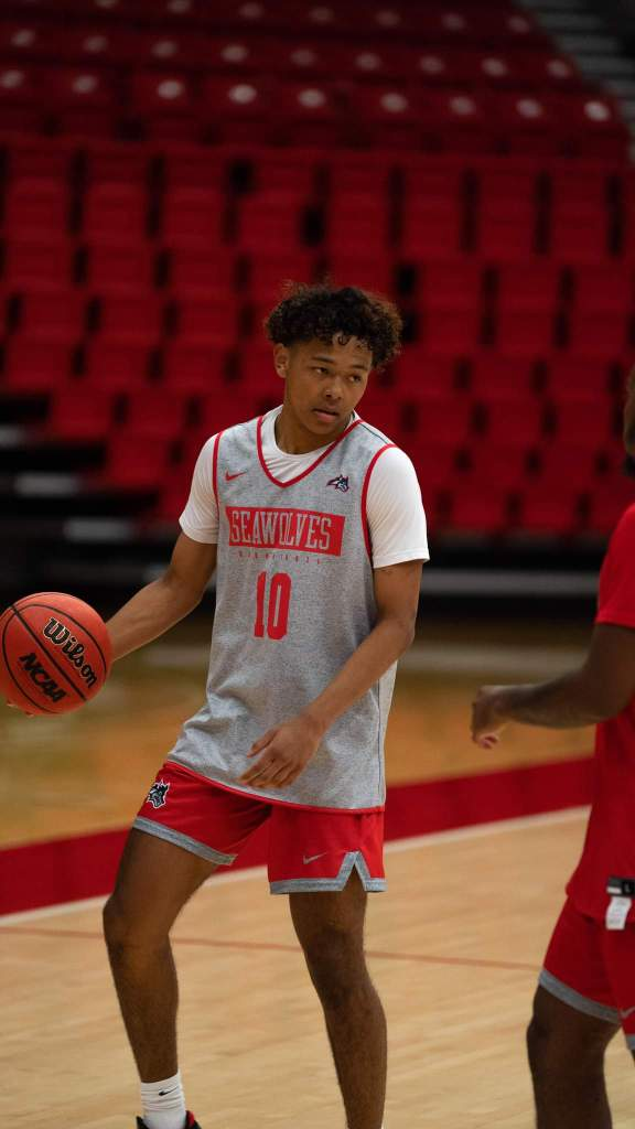 Kaine Roberts is currently a guard with the Stony Brook Seawolves, a Division I college team in New York.