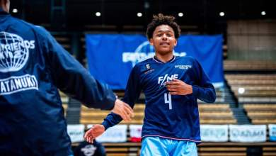 Basketball standout Kaine Roberts has had an unconventional journey, from pro player in Japan's B.League to Division I college recruit in the U.S.