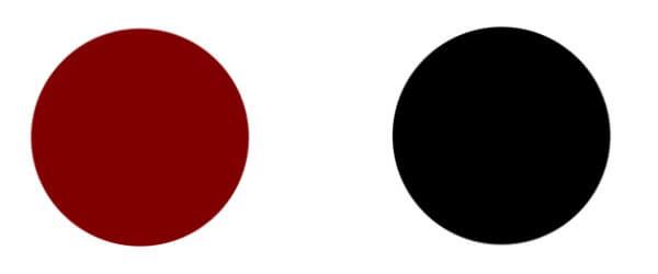 濃い赤と黒