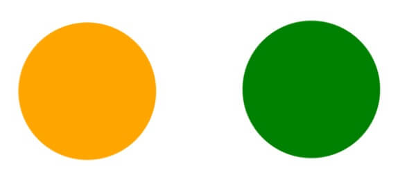 オレンジと緑