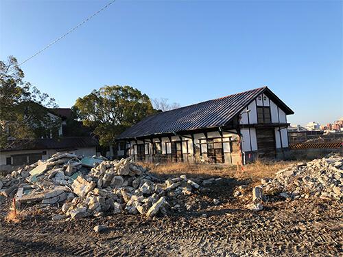 京大農場の工事着工