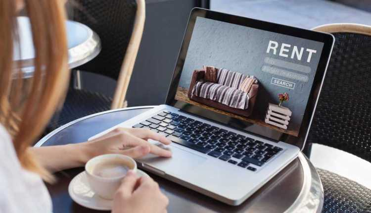 rent a room, flat, apartment, house online – concept