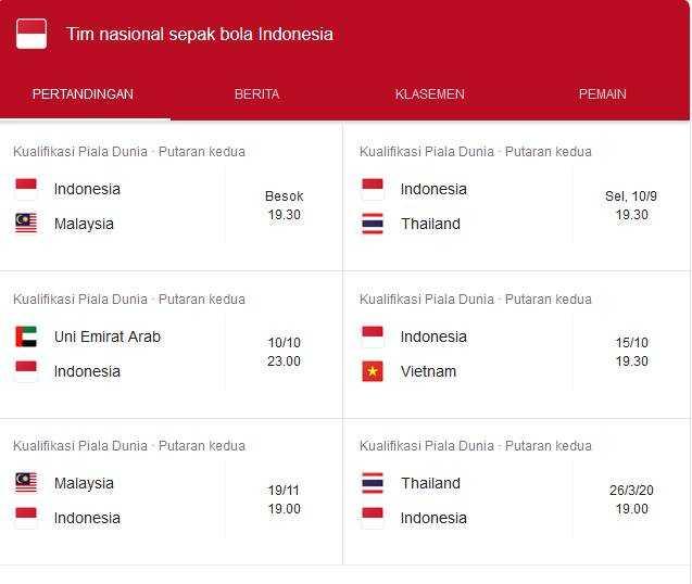 Jadwal Timnas Indonesia Vs Malaysia