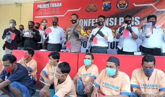 Polres Tuban Berhasil Tangkap 16 Pelaku