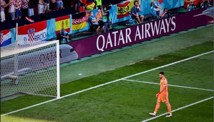 Kiper Spanyol Lakukan Gol Bunuh Diri Nomor 9 di Euro 2020, Lebih Banyak Seluruh Turnamen Lain