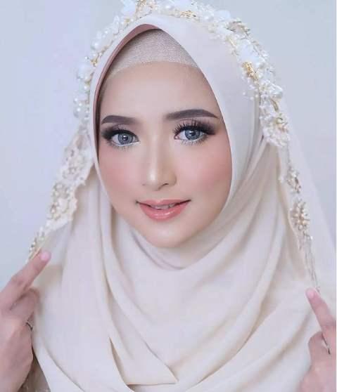 Makeup wedding modern hijab