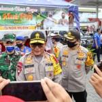 Kapolda Sumatera Utara Inspektur Jenderal Polisi Martuani Sormin melakukan pengecekan Pos Pengamanan Ops Ketupat Toba 2020 di Medan. Foto: Istimewa