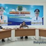 Tim GTPP Covid-19 Kab. Paluta gelar konferensi pers. Foto: Rakyatsumut.com/ Rifai Dalimunthe