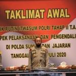 Pembukaan Wasrik rutin Itwasum Polri Tahap II Tahun Anggaran 2020 di Mapolda Sumut. Foto: Istimewa