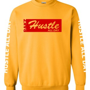 Rakz hustle all day crew neck