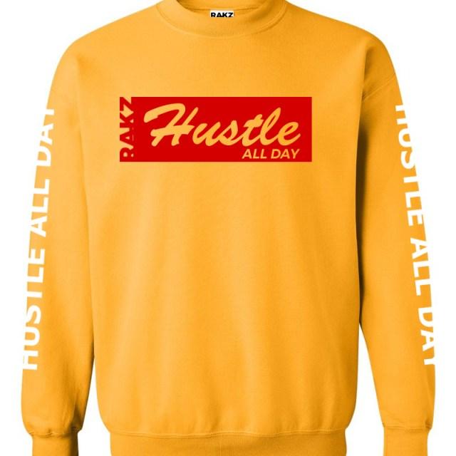 Rakz hustle all day crew neck