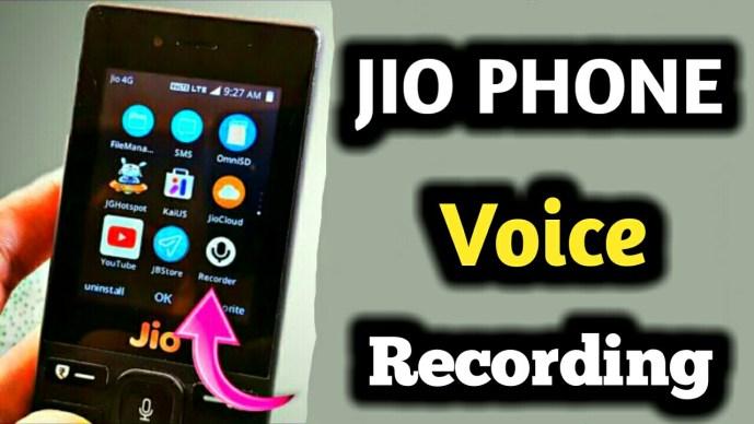 Jio phone me voice recording kaise kare