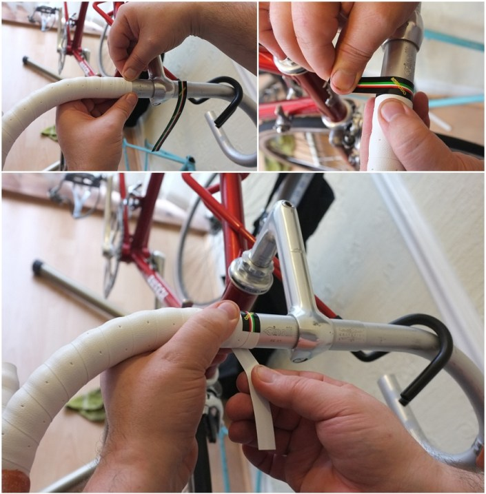 Raleigh Ilkeston SBDU 531 Professional Handlebar Tape Finishing