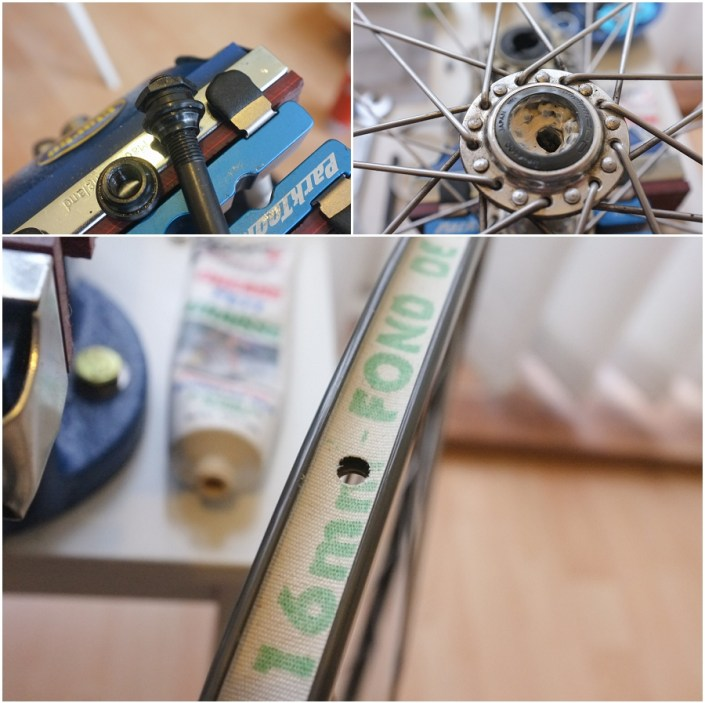 Raleigh Ilkeston SBDU 531 Professional Front Wheel Regrease and Rim Tape