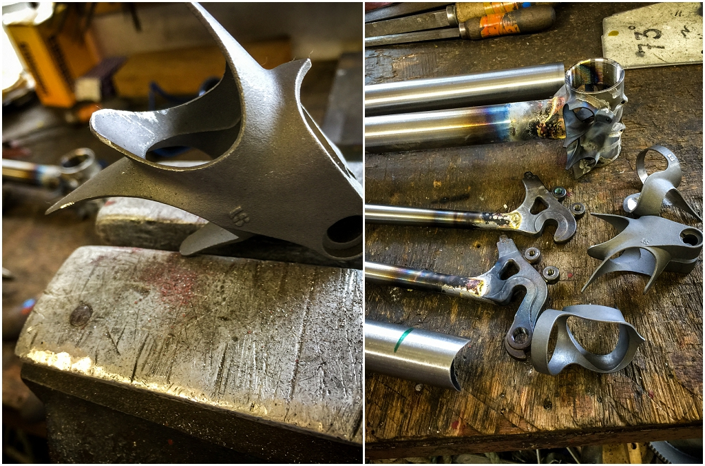 Dave Yates Frame Building Course Day 1 Sub Assembly Lugs Cut