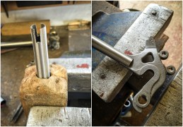 Dave Yates Frame Building Course Day 1 Sub Assembly Rear Dropouts to Chain Stays