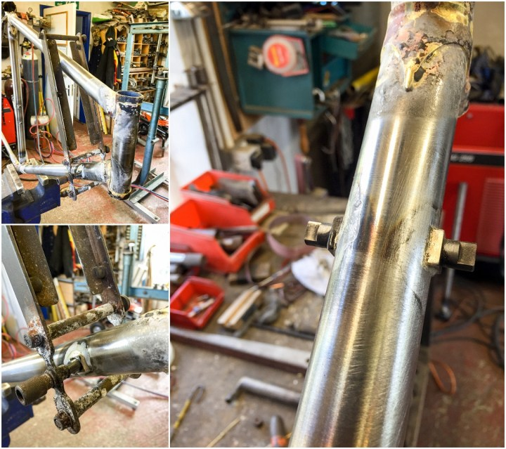 Dave Yates Frame Building Course Day 4 Silver Solder Gear Lever Bosses