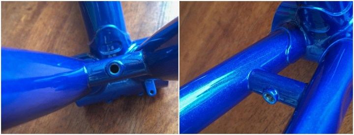Dave Yates Frame Building Course Painted Frame Chain Stay Details