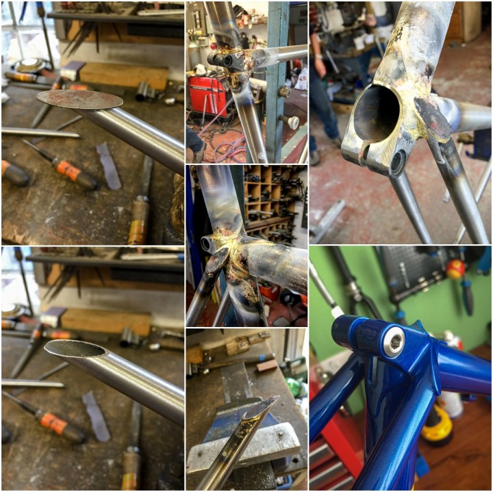 Dave Yates Frame Building Course Seat Lug and Seat Stay Caps
