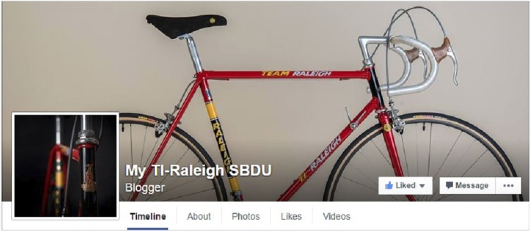My TI-Raleigh SB4059 Facebook Page