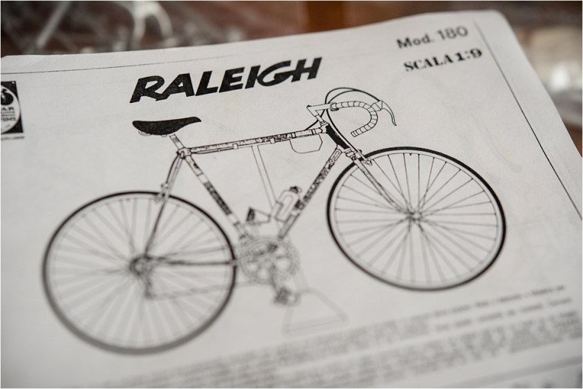 Protar Team Pro TI-Raleigh 753 Metal Scale Model Kit Instructions