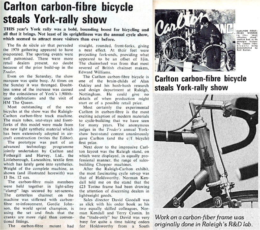 1975 to 1977 Reynolds 753 Tubing SBDU TI-Raleigh Road Frames Raleigh Carlton Carbon Fibre 1971