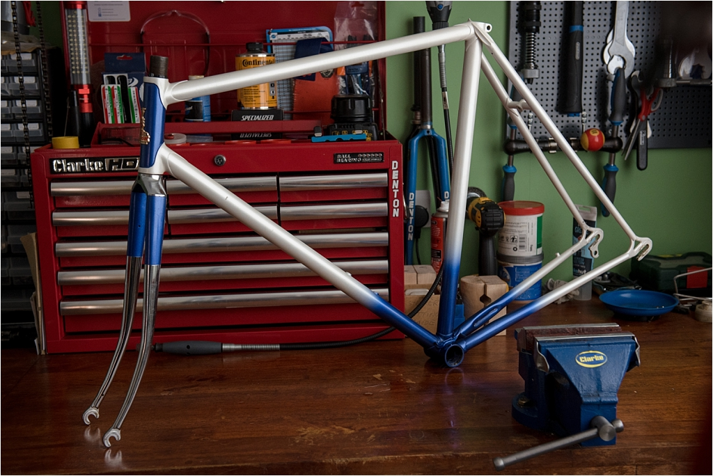 SB518 SBDU Ilkeston 1976 TI-Raleigh Team Pro Reynolds 531 Double Butted Frame and Fork