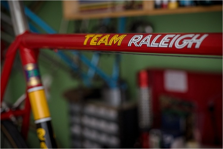 SB4059 1980 TI-Raleigh Team Pro Reynolds 753 TEAM RALEIGH Top Tube Transfer