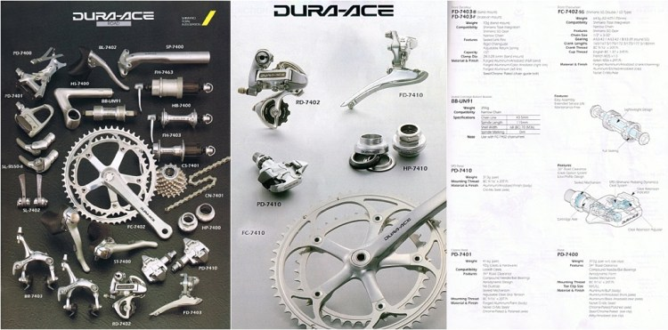 Shimano Dura-Ace 7403 - 7410 Transition