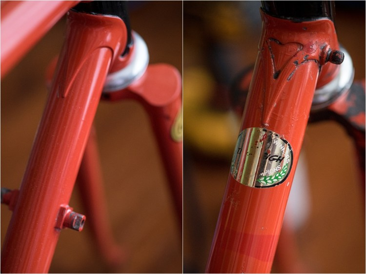 My TI-Raleigh SBDU Tour De France Winners 1980 Down Tube Transfer
