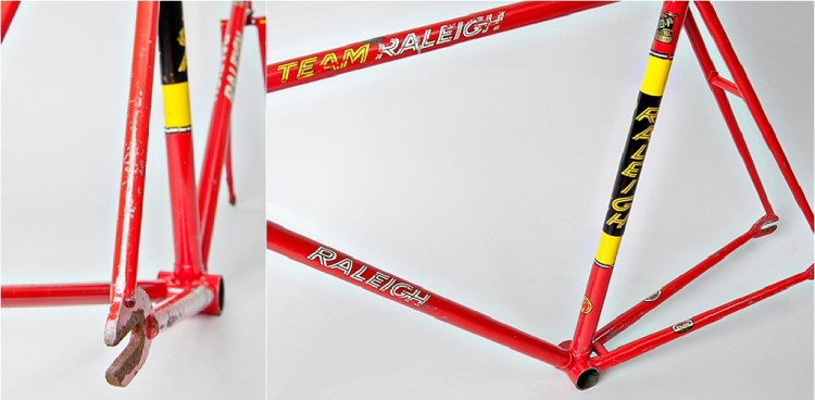 SBDU TI-Raleigh Seat Tube Panels Two Stripes