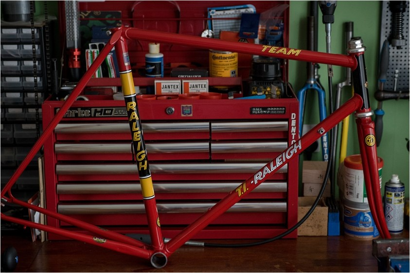 SB4059 1980 TI-Raleigh Team Pro Reynolds 753 Frame and Fork