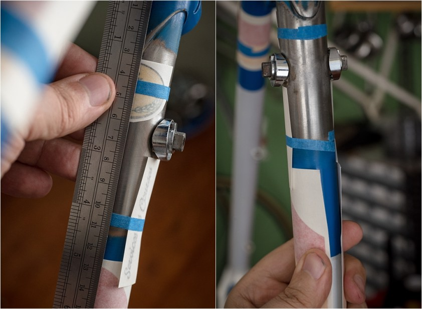 Final Compromised Positioning of Down Tube Transfers to Cover Paint Joint