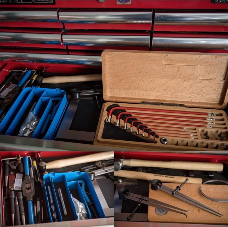 My TI-Raleigh SBDU Workshop Toolbox Taps and Dies and Calipers