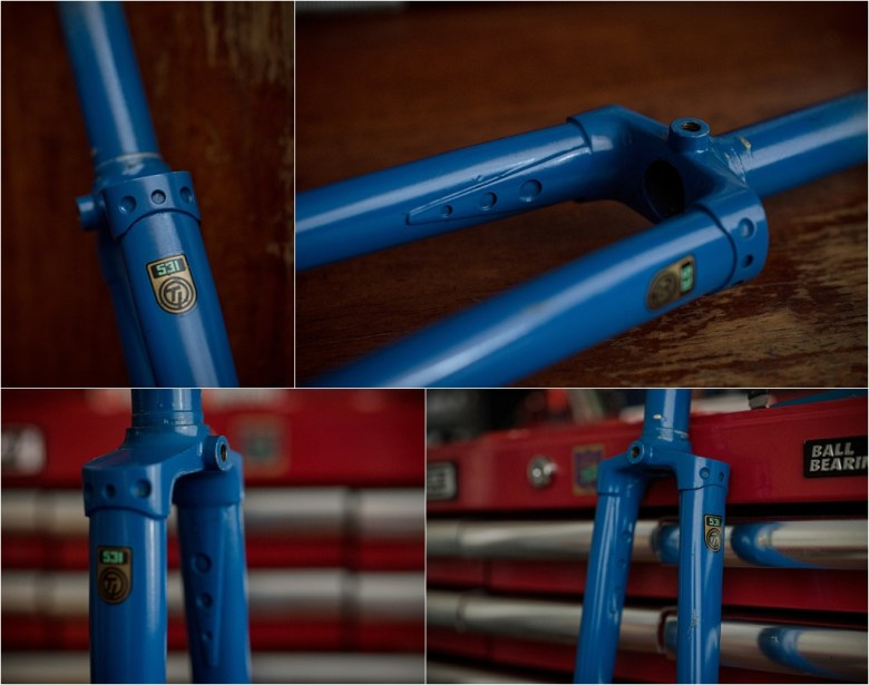 Motor Paced Stayer Frameset Fork Crown Detail