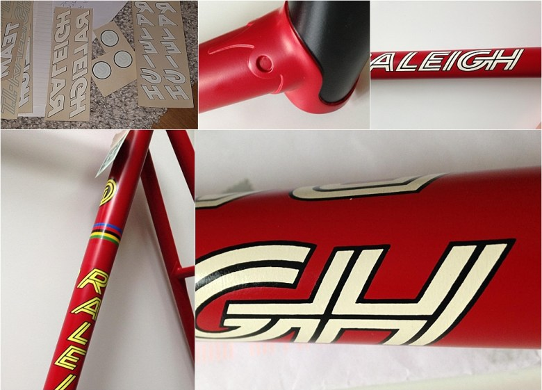 Roy Schuiten 1975 GP Lugano and Grand Prix des Nations Time Trial Bike Repainted Details