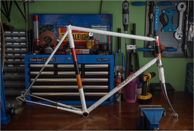 SBDU 2019 Review Worksop Carlton Raleigh 1968 Raleigh C4619 948 Frame and Fork Drive Side
