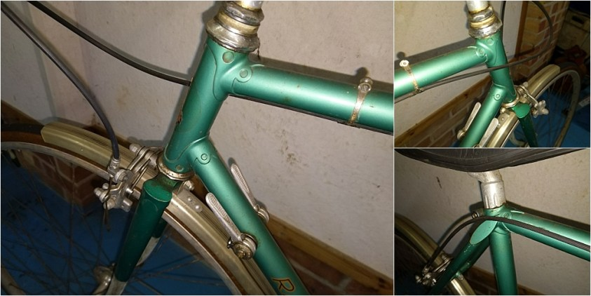 HK276 1976 TI-Raleigh Road Frame Initial Images Capella Lugs
