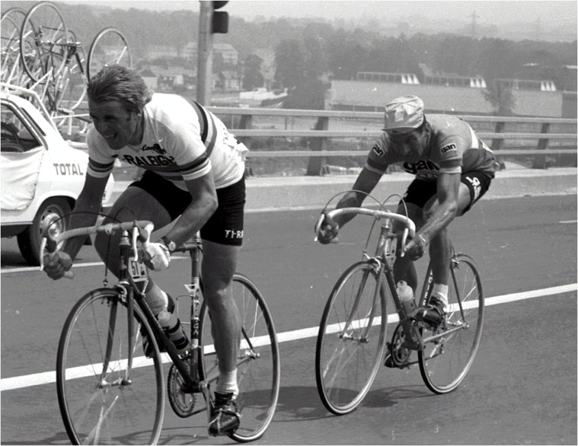 Hennie Kuiper and Raymond Poulidor 1976 Tour de France