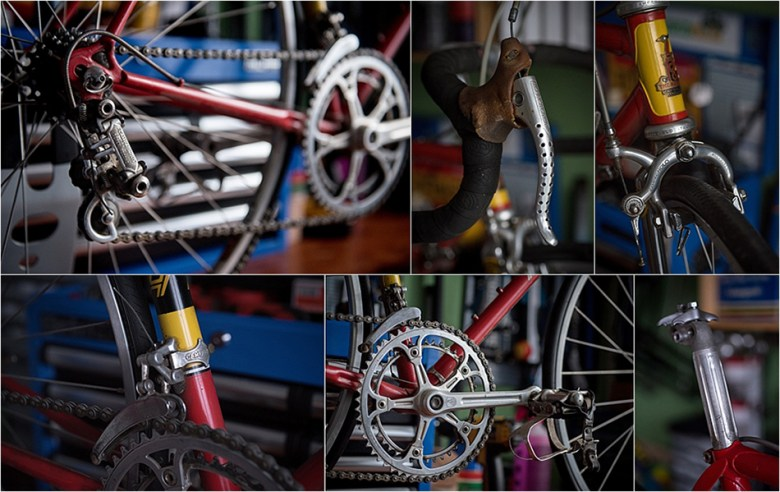 1974 Raleigh SBDU SB9 Super Record Components