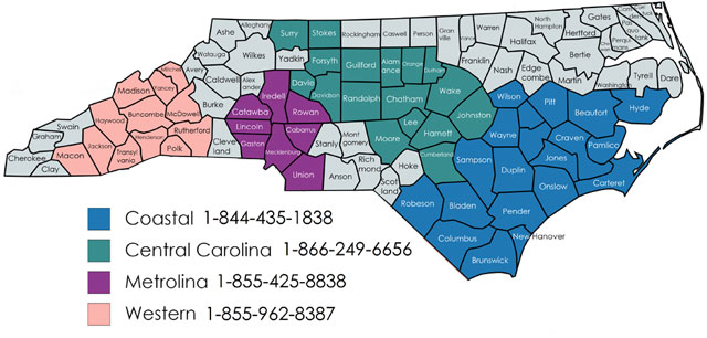 NCServes - Central Carolina - Helping Military Veterans ... on map sc c, map of north a, map of north carolina,