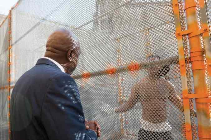 Deputy talking to prisoner