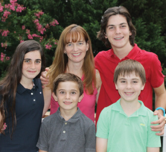 Katie Dunn and kids