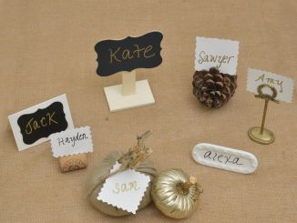 Examples of place cards