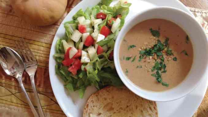 Moroccan Spiced Pecan Butternut Soup