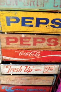 Vintage Soda Crates, $20. Single or stacked, these crates are fun and functional storage pieces.