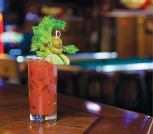 Carolina Ale House's Bloody Mary features smoky vodka and smoked salt